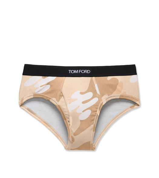 CAMOUFLAGE COTTON BRIEF