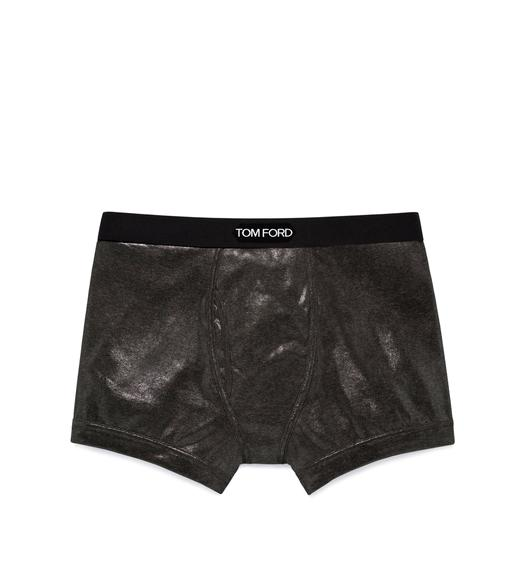 METALLIC COTTON BOXER BRIEFS