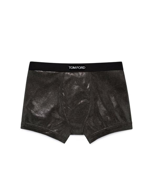 METALLIC COTTON BOXER BRIEFS A fullsize