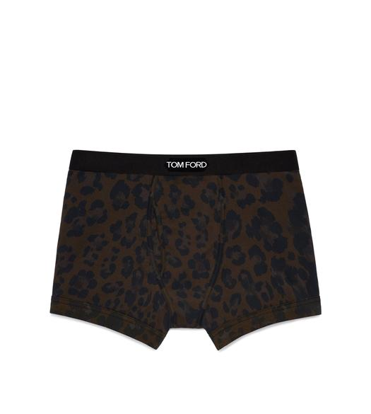 LEOPARD COTTON BOXER BRIEFS