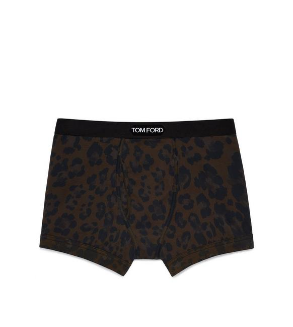 LEOPARD COTTON BOXER BRIEFS A fullsize