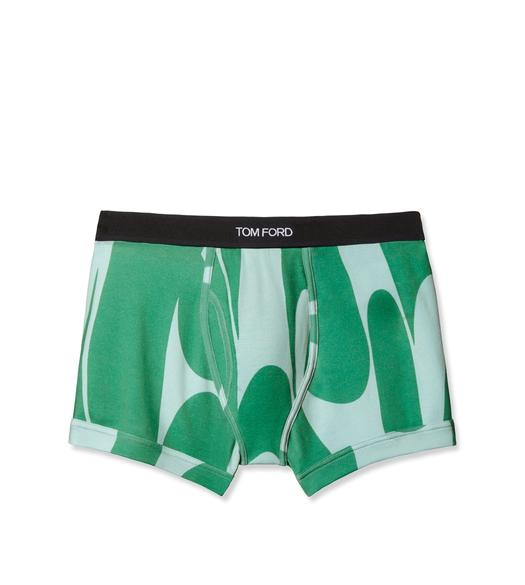 SWIRL COTTON BOXER BRIEFS