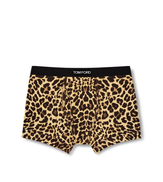 REFLECTIVE LEOPARD COTTON BOXER BRIEFS