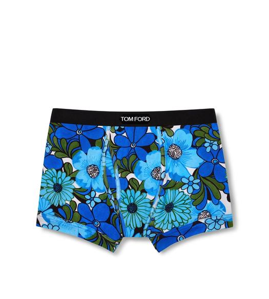 RETRO FLORAL COTTON BOXER BRIEFS