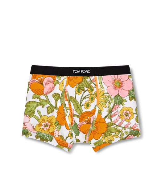 60'S FLORAL COTTON BOXER BRIEFS