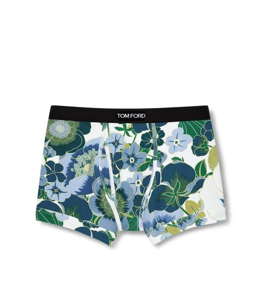 GRAPHIC POPPY FLOWER COTTON BOXER BRIEFS
