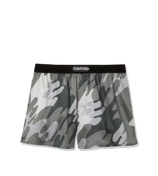 CAMOUFLAGE SILK BOXERS