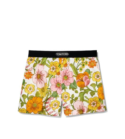 60'S FLORAL SILK BOXERS