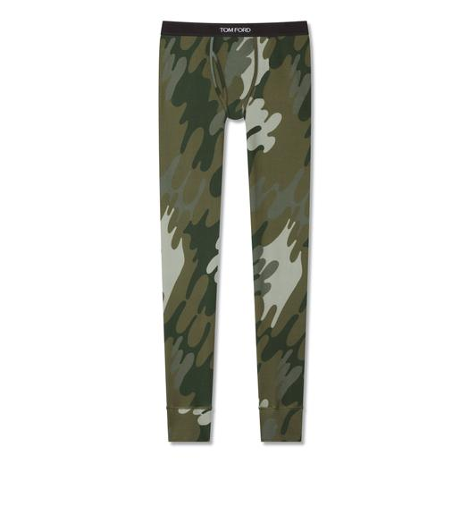CAMOUFLAGE COTTON LONG JOHNS