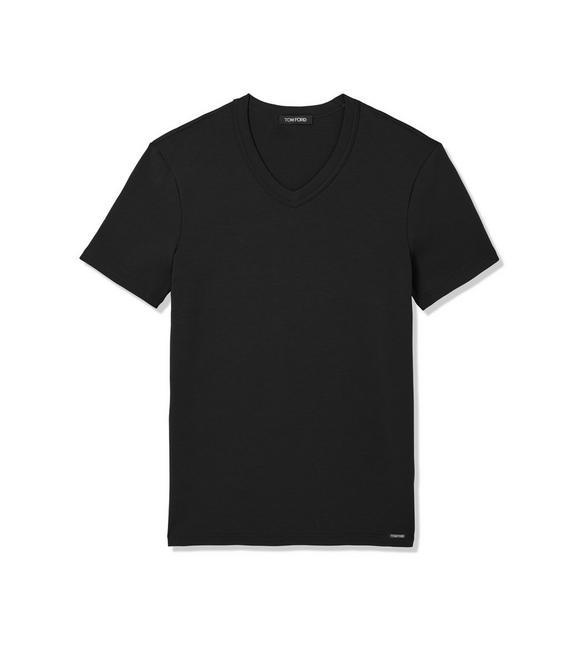 COTTON V-NECK T-SHIRT A fullsize