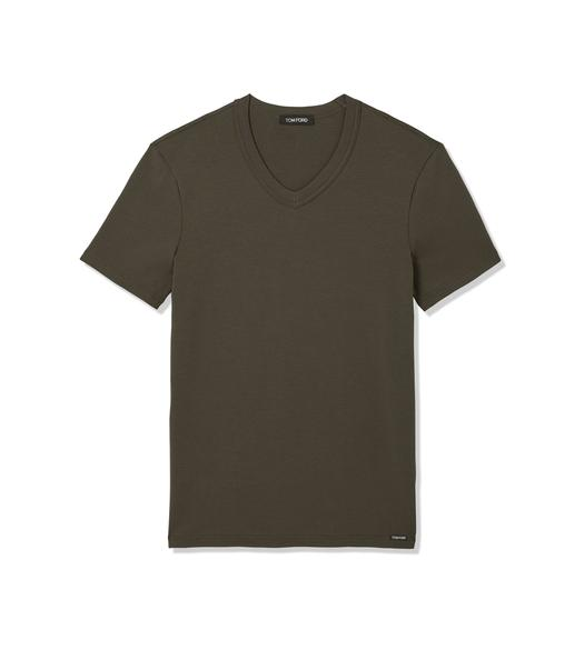 COTTON V-NECK T-SHIRT