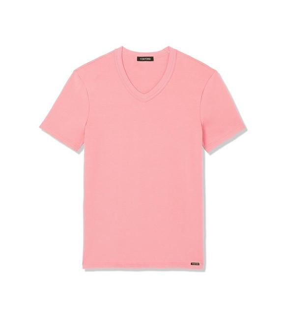 COTTON V-NECK T-SHIRT A fullsize