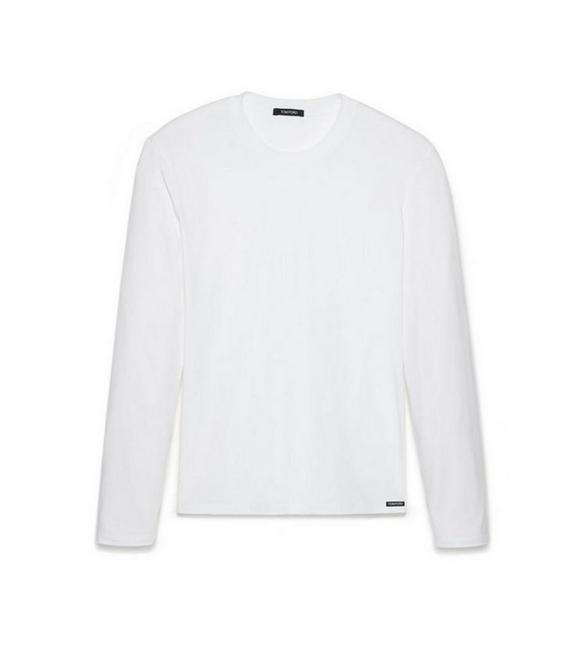 COTTON MODAL LONG SLEEVE CREW NECK T-SHIRT A fullsize
