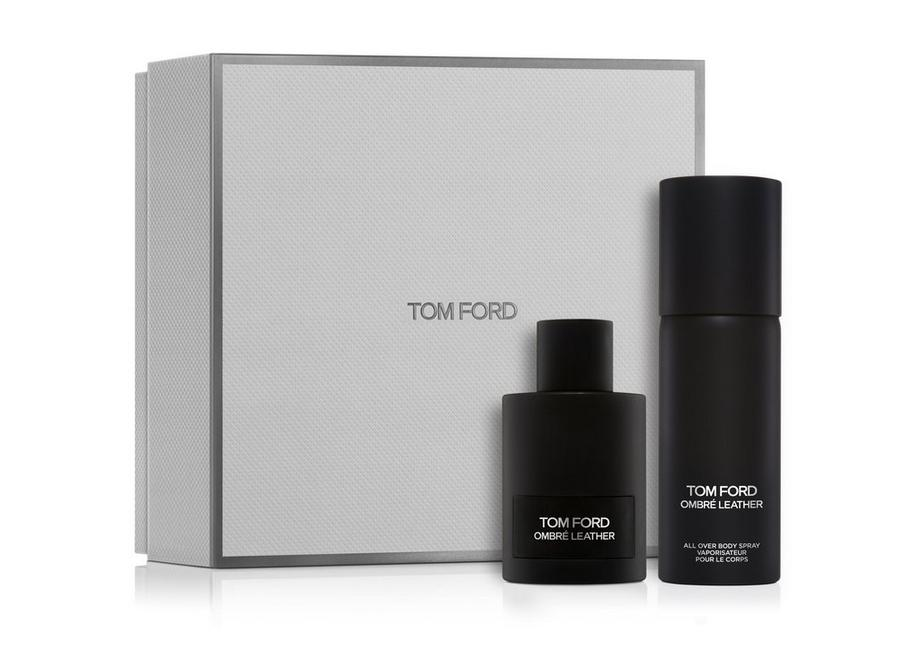 OMBRÉ LEATHER SET WITH ALL OVER BODY SPRAY A fullsize