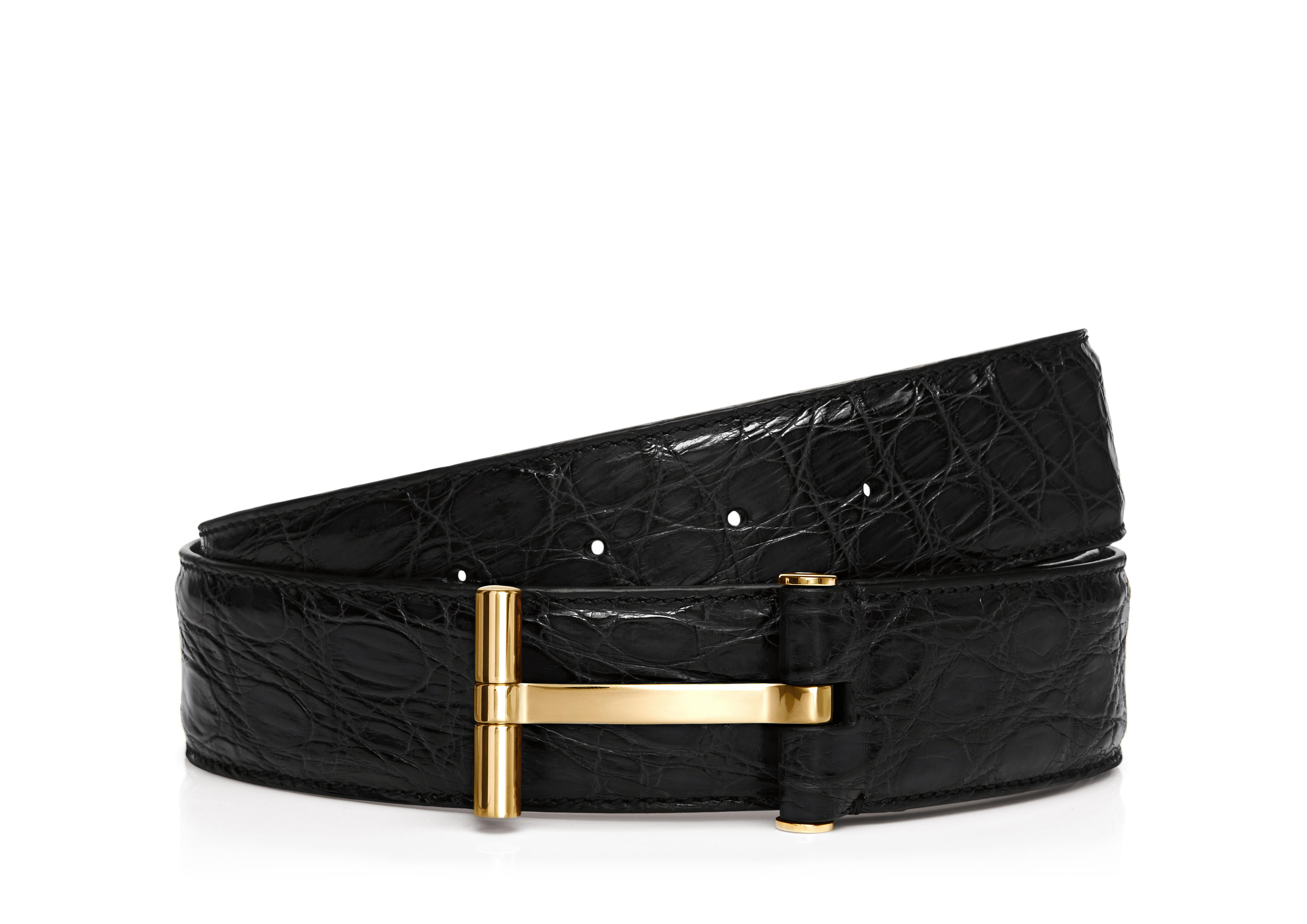 CROCODILE T BUCKLE BELT A thumbnail