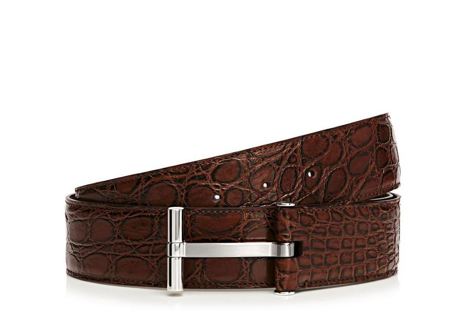 CROCODILE T BUCKLE BELT A fullsize