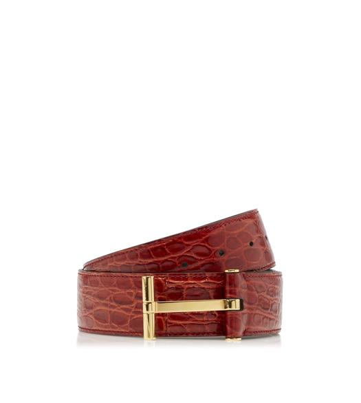 CROCODILE T BUCKLE BELT