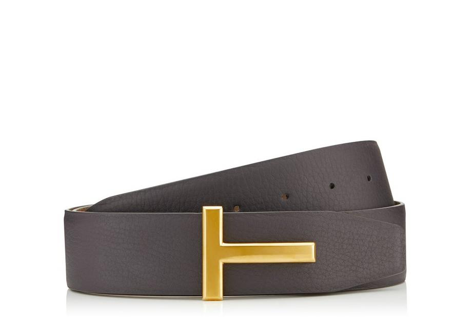 T BUCKLE REVERSIBLE BELT WITH GOLD BUCKLE A fullsize