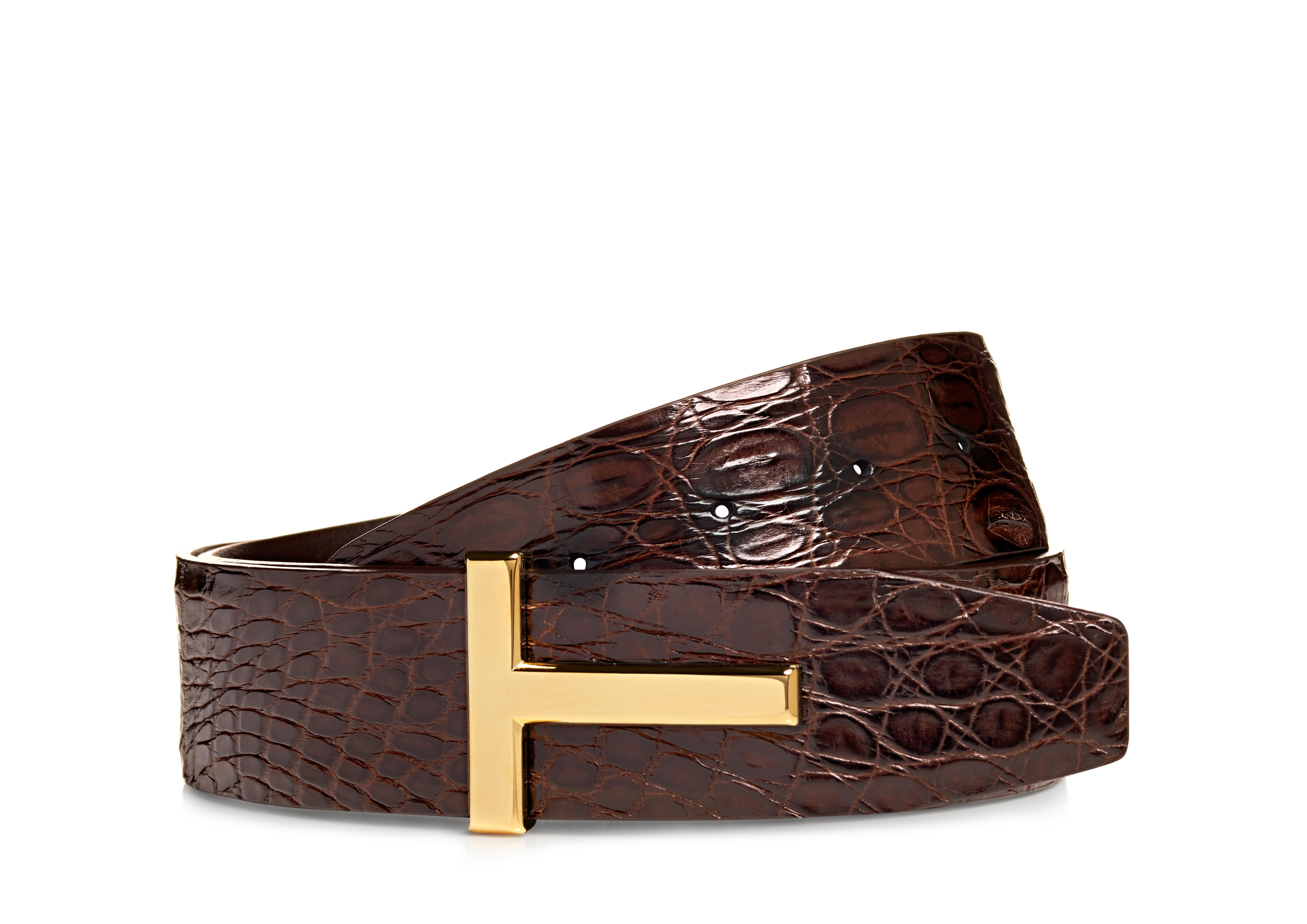 GOLD CROCODILE ICON BELT A thumbnail