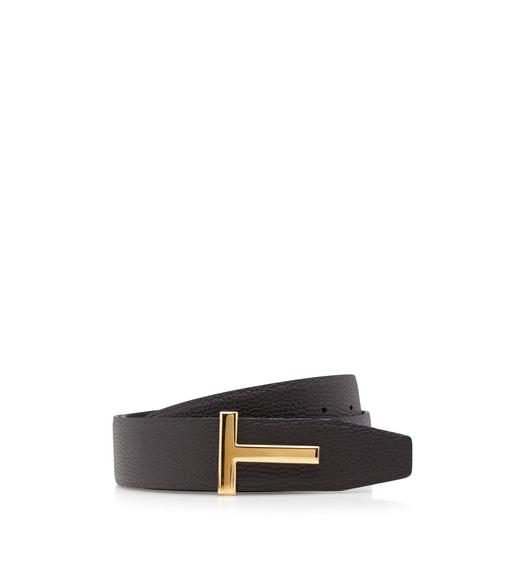 GRAIN LEATHER T ICON BELT
