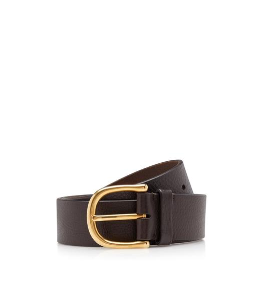 GRAIN LEATHER JEANS BELT 40MM