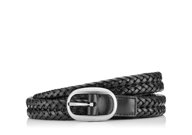 SLIM WOVEN LEATHER BELT A fullsize