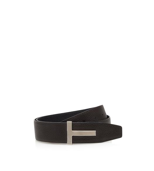 LEATHER PALLADIUM T RIDGE BELT
