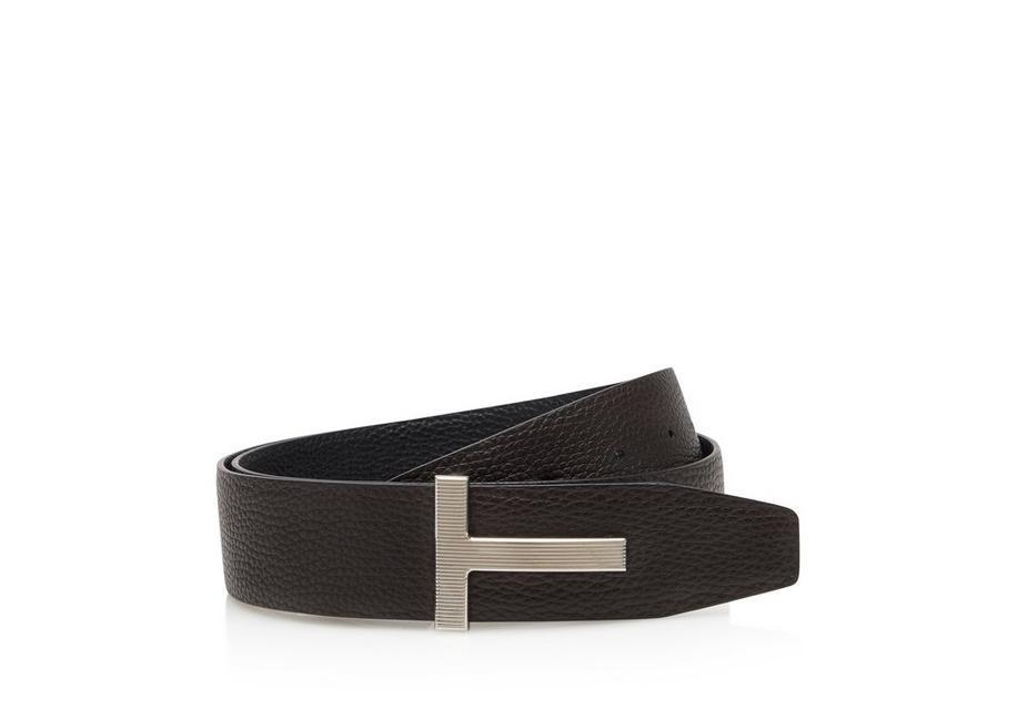 LEATHER PALLADIUM T RIDGE BELT A fullsize