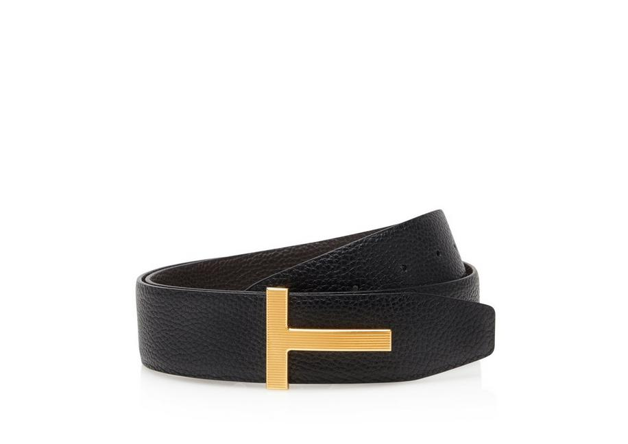 LEATHER GOLD T RIDGE BELT A fullsize