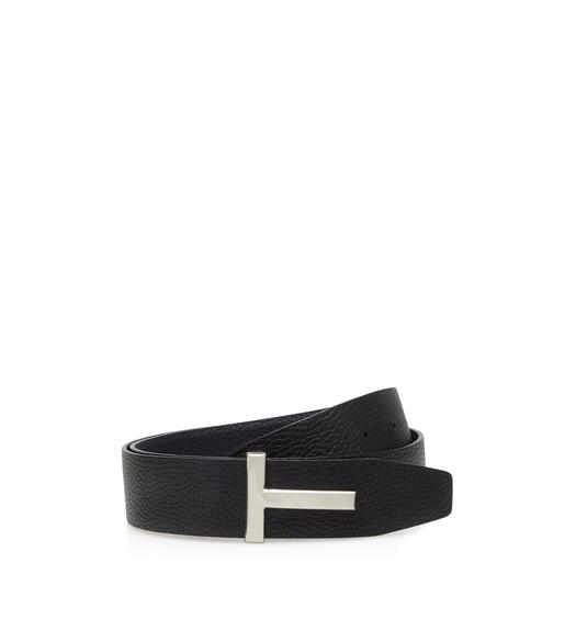 LEATHER ENAMEL T RIDGE BELT