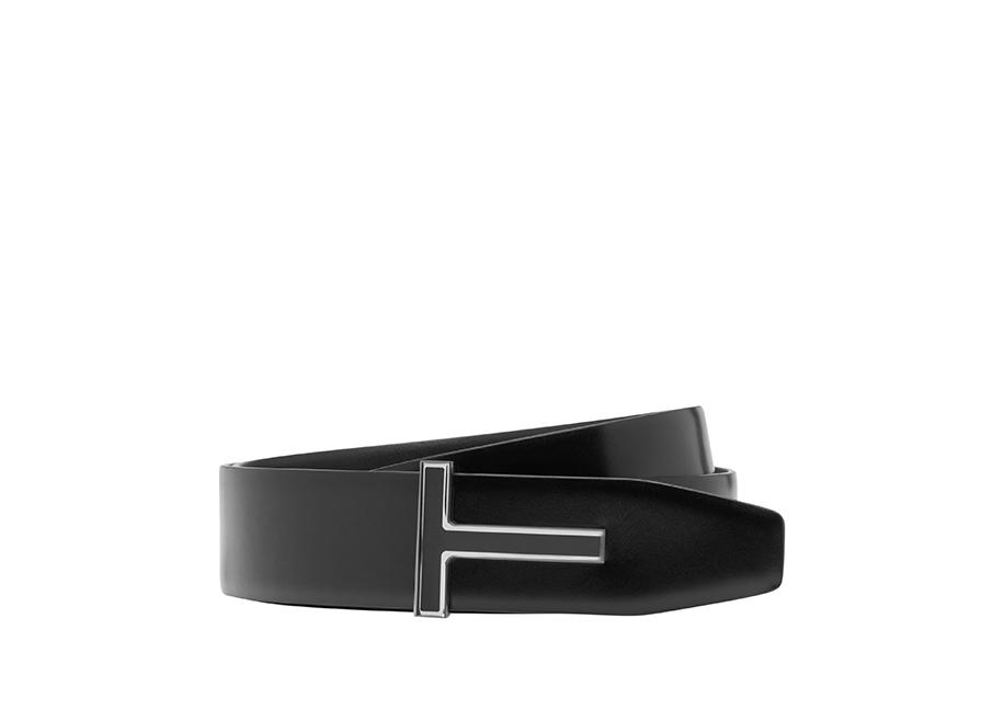 LEATHER ENAMEL T RIDGE BELT A fullsize