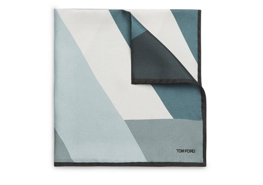 ABSTRACT ANGLE POCKET SQUARE A fullsize