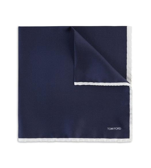 CONTRAST BORDER POCKET SQUARE