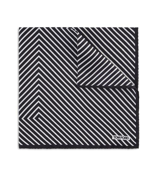 T STRIPE POCKET SQUARE