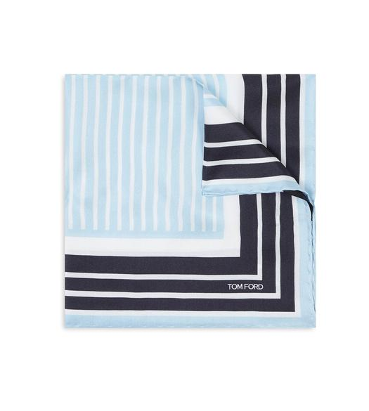 CONTRAST STRIPE POCKET SQUARE