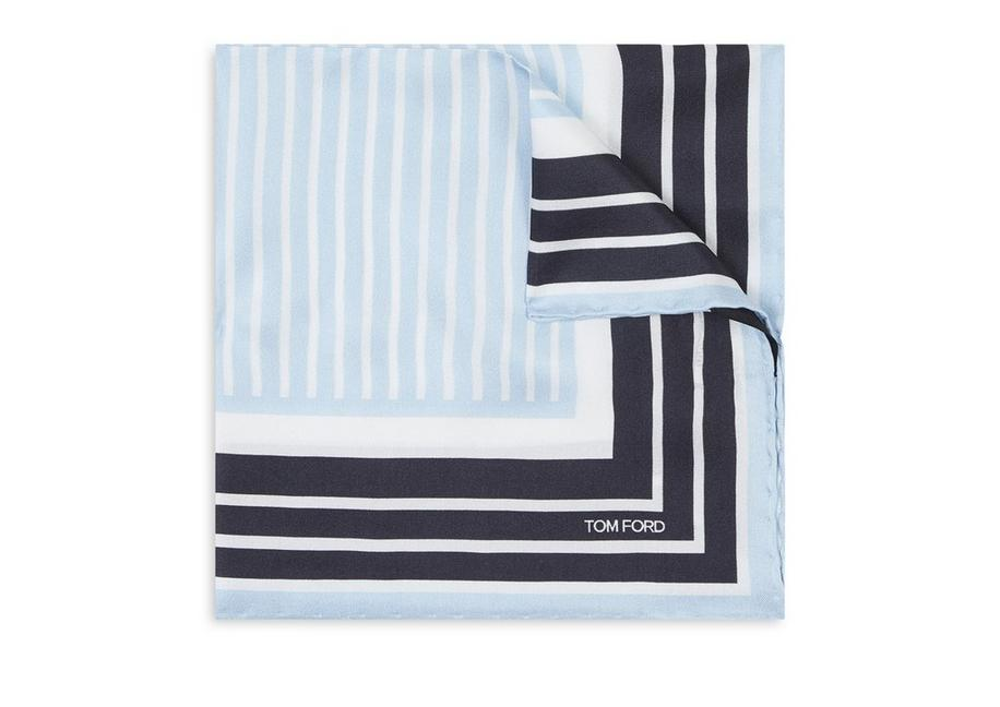 CONTRAST STRIPE POCKET SQUARE A fullsize