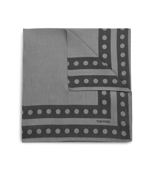 DOUBLE CIRCLE BORDER CLASSIC POCKET SQUARE