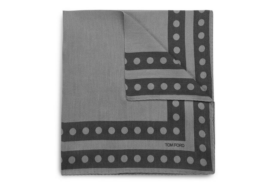 DOUBLE CIRCLE BORDER CLASSIC POCKET SQUARE A fullsize