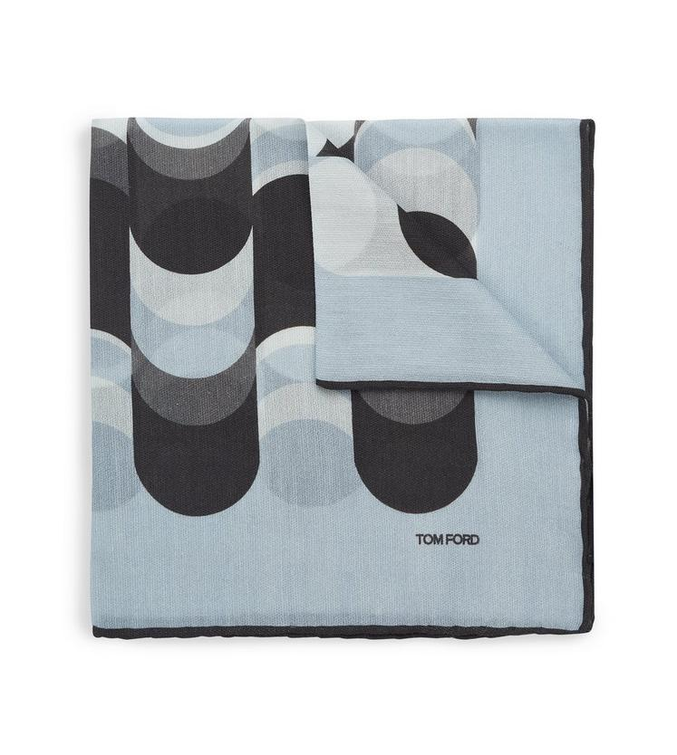 ABSTRACT WAVE PRINT CLASSIC POCKET SQUARE D fullsize