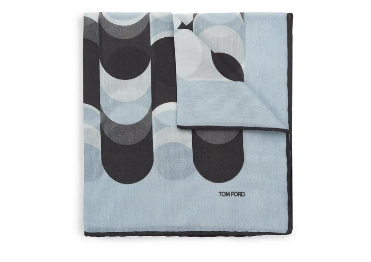 ABSTRACT WAVE PRINT CLASSIC POCKET SQUARE A fullsize