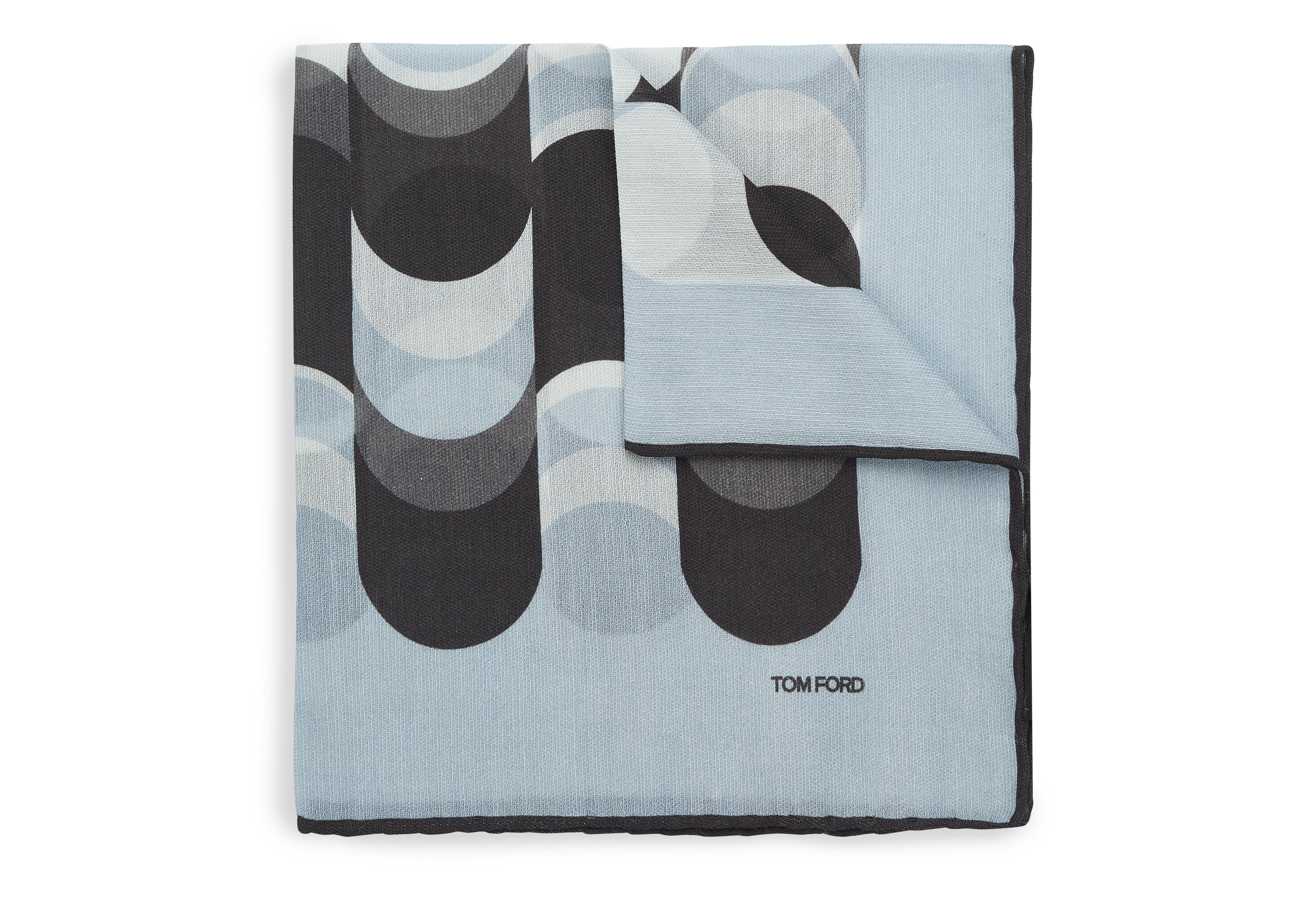 ABSTRACT WAVE PRINT CLASSIC POCKET SQUARE A thumbnail