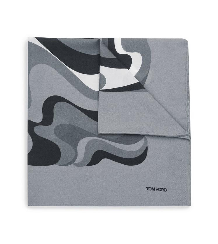 ABSTRACT SWIRL PRINT CLASSIC POCKET SQUARE D fullsize