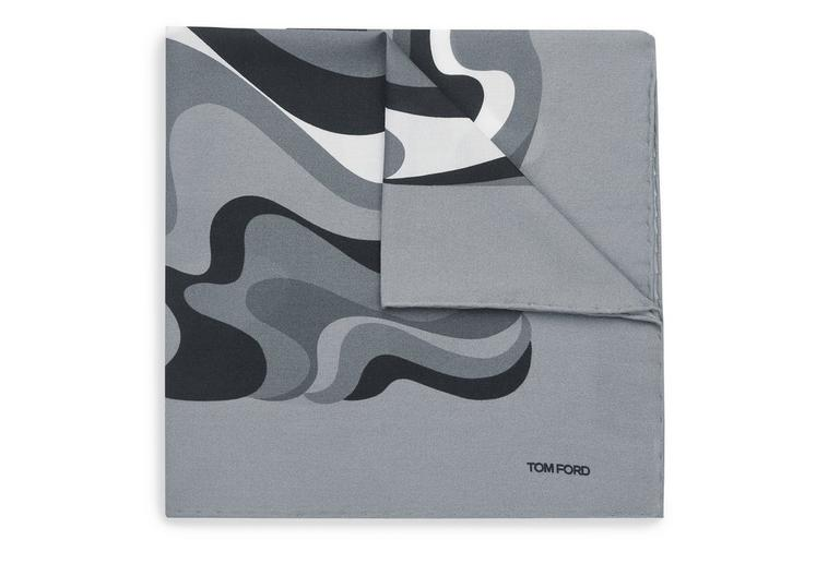 ABSTRACT SWIRL PRINT CLASSIC POCKET SQUARE A fullsize
