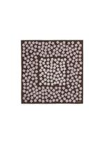 CIRCLE FLOWER PRINT SILK POCKET SQUARE B thumbnail