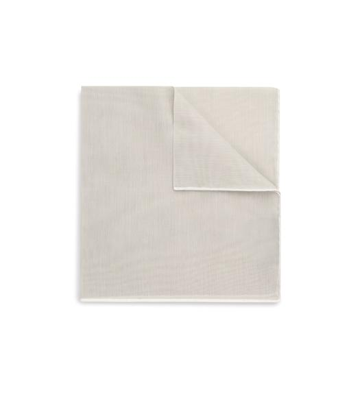 COTTON POCKET SQUARE WITH BORDER