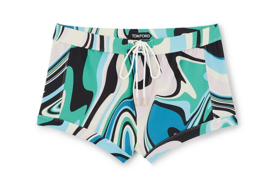 LIQUEFIED SWIRL SWIMMING BOXER A fullsize
