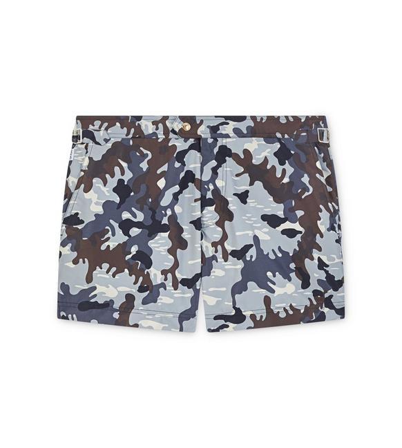 ABSTRACT CAMOUFLAGE SWIM SHORTS A fullsize
