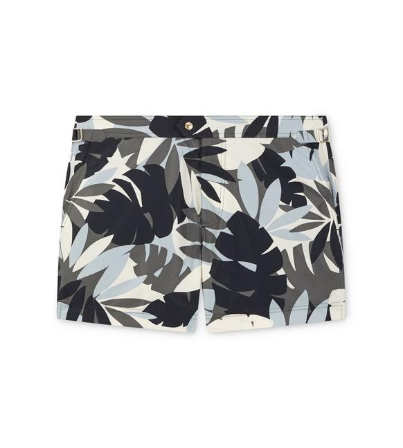 LEAF PRINT SWIM SHORTS A fullsize