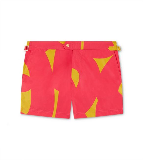 GRAPHIC PRINT NYLON SWIM SHORTS A fullsize