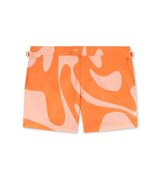 SWIRL PRINT NYLON SWIM SHORTS